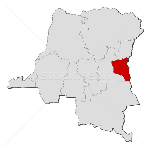 Map of Democratic Republic of the Congo, South Kivu highlighted Stock photo © Schwabenblitz