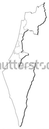 Map of Israel Stock photo © Schwabenblitz