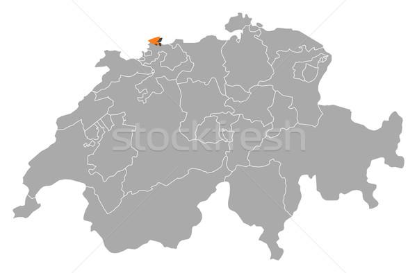 Map of Swizerland, Basel-Stadt highlighted Stock photo © Schwabenblitz