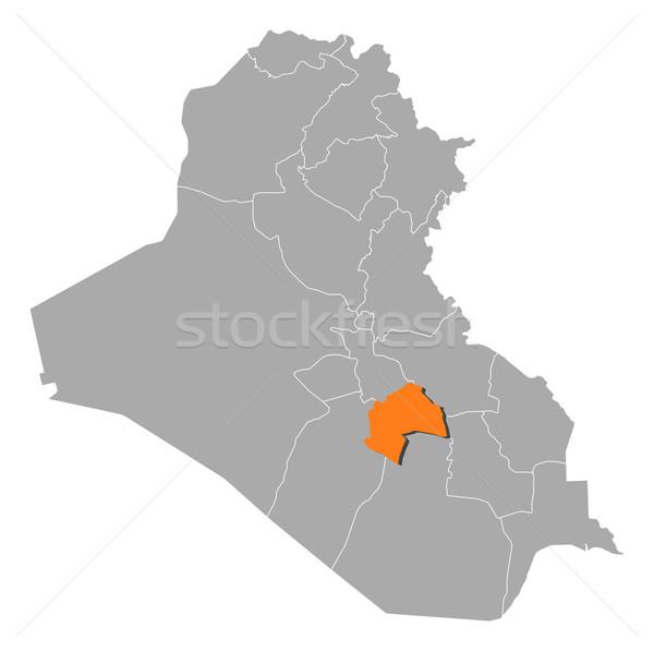 Mapa Iraque político vários abstrato fundo Foto stock © Schwabenblitz