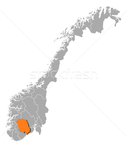 Map of Norway, Telemark highlighted Stock photo © Schwabenblitz
