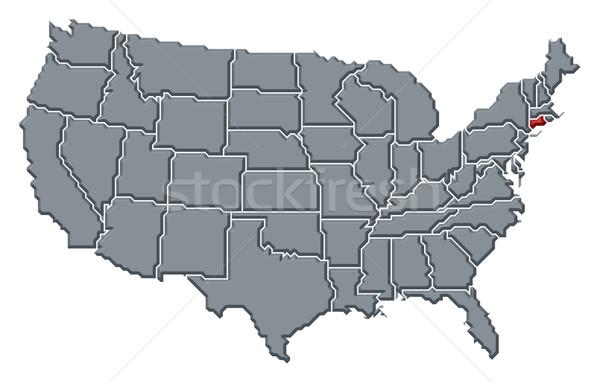Harita Amerika Birleşik Devletleri Connecticut siyasi birkaç soyut Stok fotoğraf © Schwabenblitz