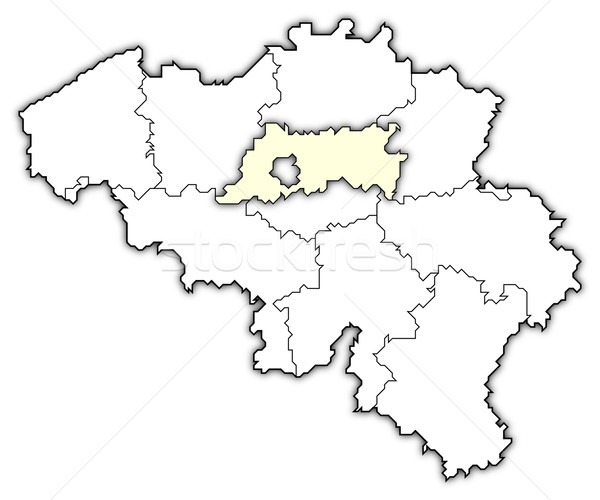 Map of Belgium, Flemish Brabant highlighted Stock photo © Schwabenblitz