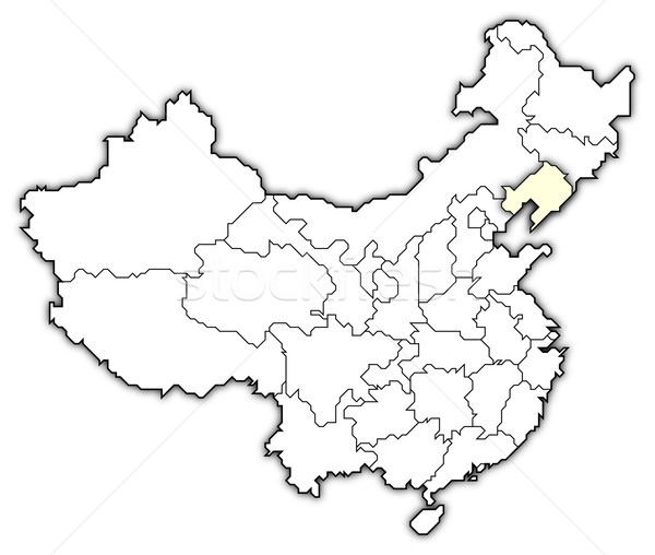 Map of China, Liaoning highlighted Stock photo © Schwabenblitz