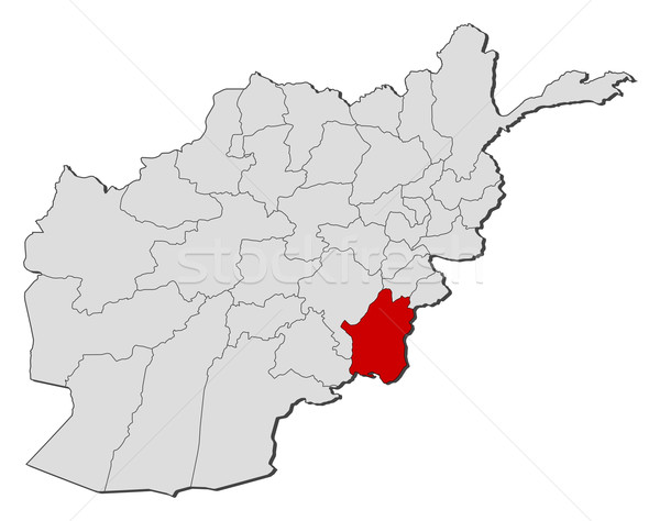 Map of Afghanistan, Paktika highlighted Stock photo © Schwabenblitz