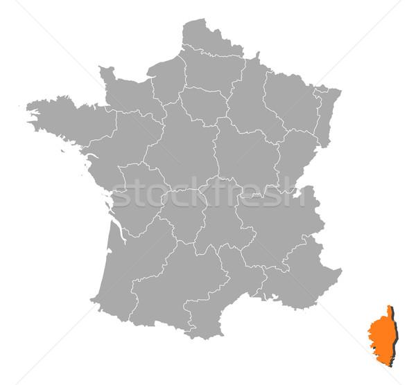 Mapa Francia córcega político regiones Foto stock © Schwabenblitz