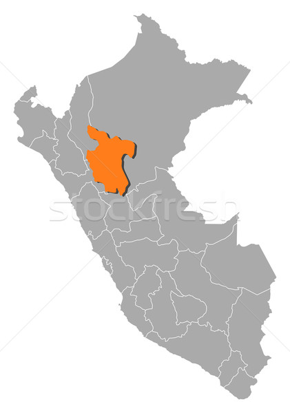 Map of Peru, San Mart Stock photo © Schwabenblitz