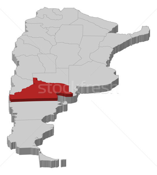 Map of Argentina, R Stock photo © Schwabenblitz