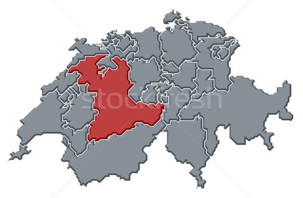 Map of Swizerland, Bern highlighted Stock photo © Schwabenblitz