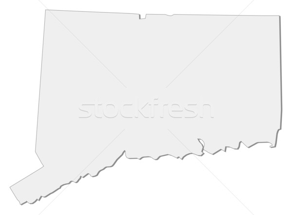 Map of Connecticut (United States) Stock photo © Schwabenblitz