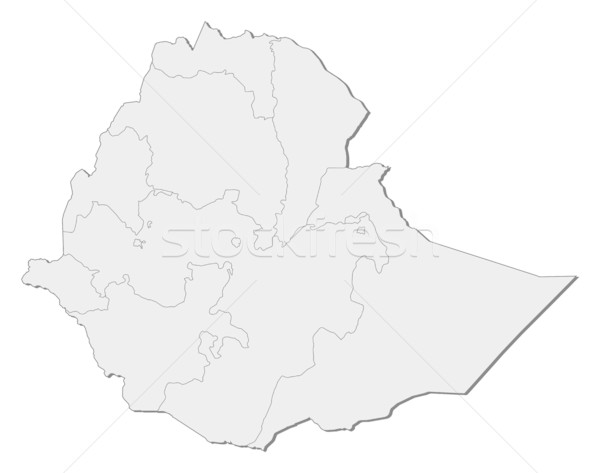 Map - Ethiopia Stock photo © Schwabenblitz