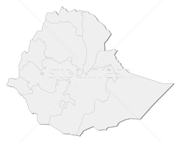 Pokaż Etiopia streszczenie świat tle czerwony Zdjęcia stock © Schwabenblitz