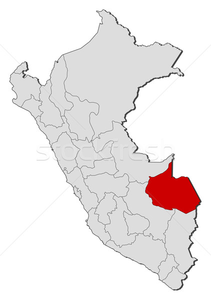 地図 ペルー 政治的 いくつかの 地域 世界中 ストックフォト © Schwabenblitz
