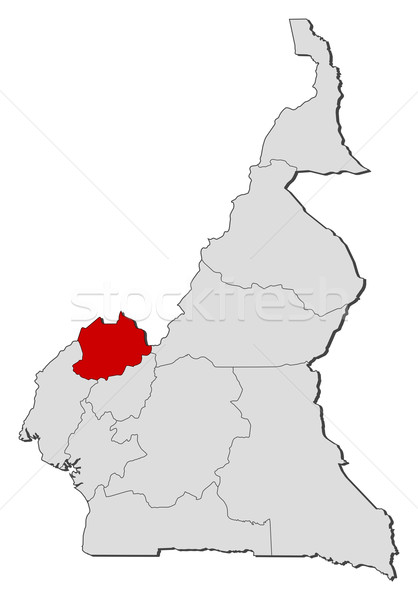 Map of Cameroon, Northwest highlighted Stock photo © Schwabenblitz