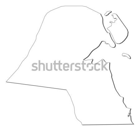 Mappa Kuwait politico parecchi abstract mondo Foto d'archivio © Schwabenblitz