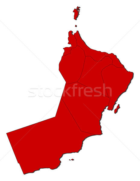 Stock photo: Map of Oman