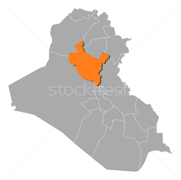 Map of Iraq, Salah ad Din highlighted Stock photo © Schwabenblitz