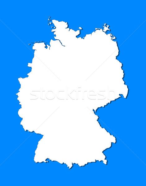 Harita Almanya siyasi birkaç soyut dünya Stok fotoğraf © Schwabenblitz
