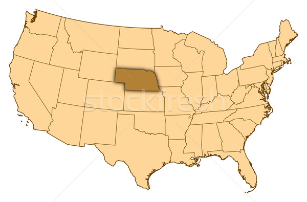 Térkép Egyesült Államok Nebraska absztrakt háttér kommunikáció Stock fotó © Schwabenblitz
