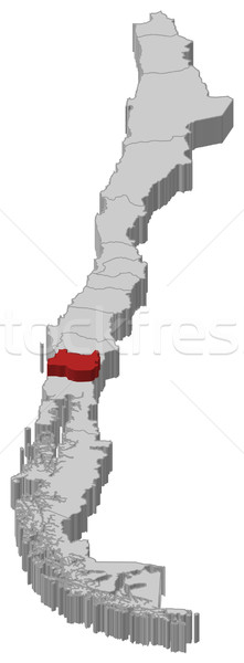 Stock photo: Map of Chile, Los R