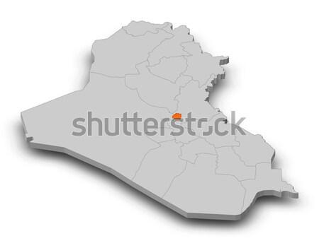 Map of Iraq Stock photo © Schwabenblitz