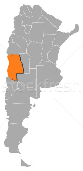 Map of Argentina, Mendoza highlighted Stock photo © Schwabenblitz