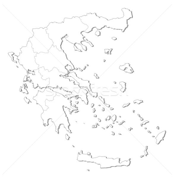 Сток-фото: карта · Греция · политический · несколько · мира · аннотация