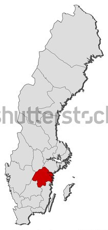 Map of Sweden Stock photo © Schwabenblitz