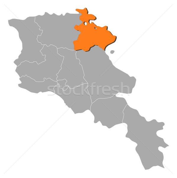 地図 アルメニア 政治的 いくつかの 抽象的な 背景 ストックフォト © Schwabenblitz