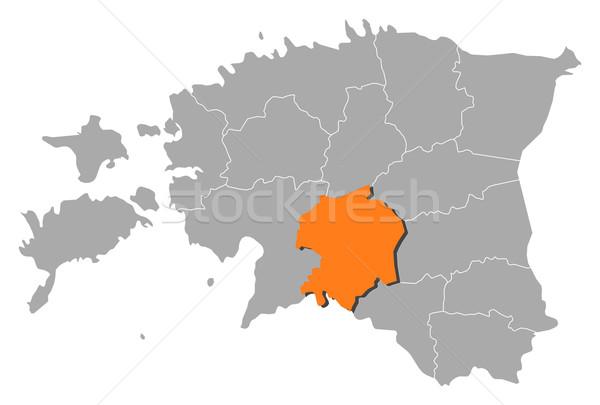 Mapa Estonia político resumen fondo Foto stock © Schwabenblitz
