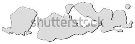 Kaart Jemen politiek verscheidene abstract wereld Stockfoto © Schwabenblitz