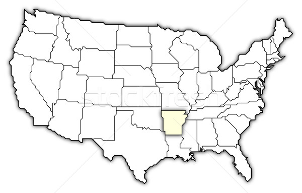 Stock fotó: Térkép · Egyesült · Államok · Arkansas · politikai · néhány · absztrakt