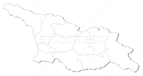 карта Грузия черный линия аннотация земле Сток-фото © Schwabenblitz