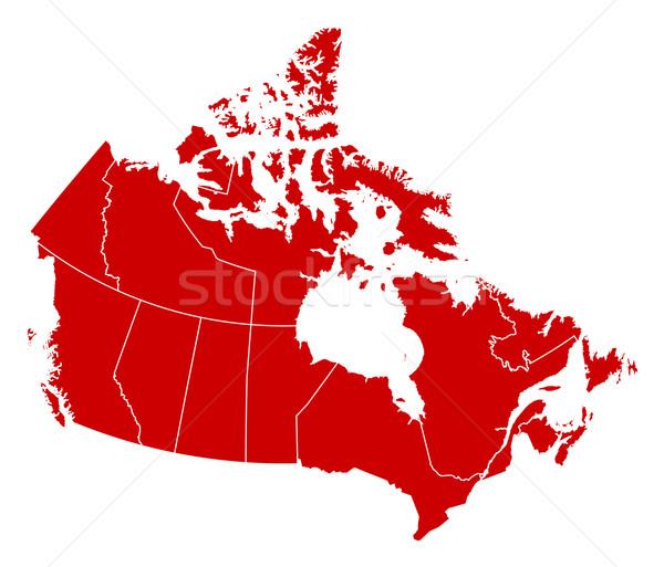 Mapa Canadá preto abstrato vermelho comunicação Foto stock © Schwabenblitz