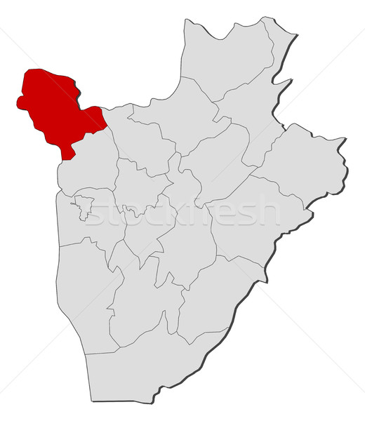 Map - Burundi, Cibitoke Stock photo © Schwabenblitz