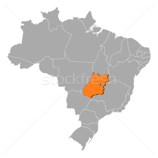 Stock photo: Map of Brazil, Goi