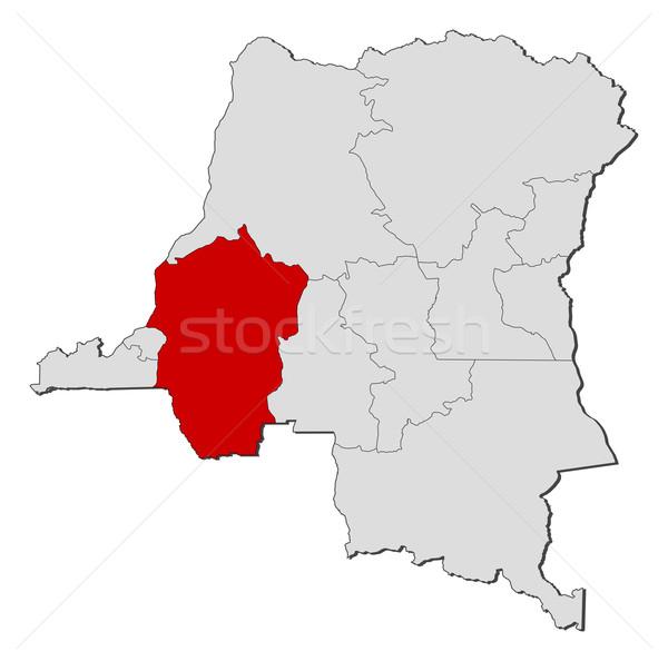 карта демократический республика Конго политический несколько Сток-фото © Schwabenblitz