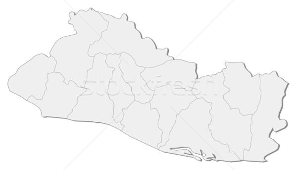 Mapa El Salvador político vários abstrato arte Foto stock © Schwabenblitz