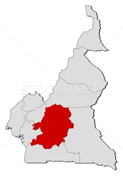 Mapa Camarões centro político vários regiões Foto stock © Schwabenblitz