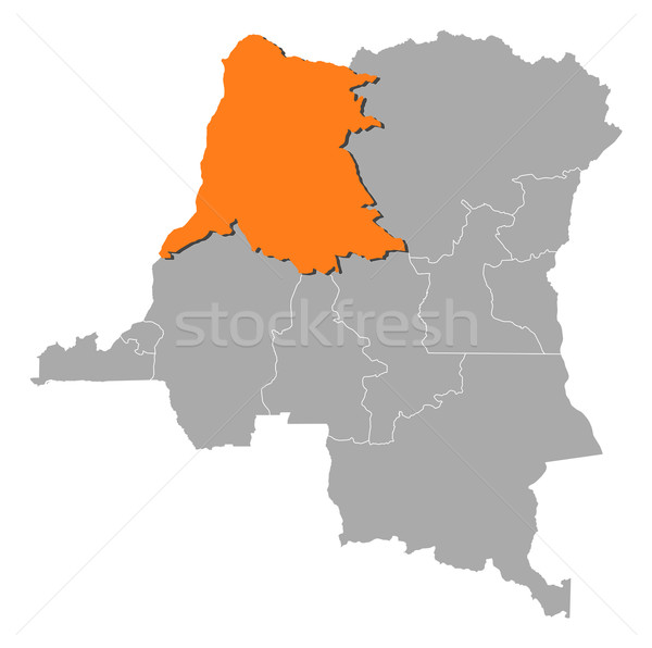 Map of Democratic Republic of the Congo,  Stock photo © Schwabenblitz