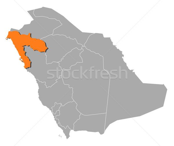 Map of Saudi Arabia, Tabuk highlighted Stock photo © Schwabenblitz