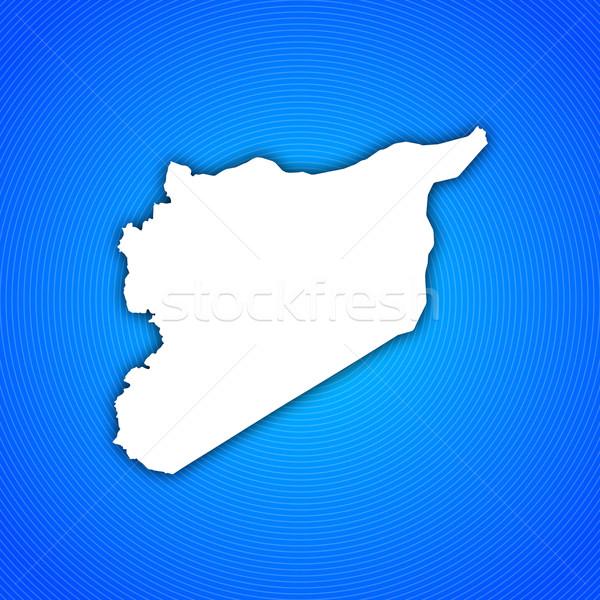 Harita Suriye siyasi birkaç soyut dünya Stok fotoğraf © Schwabenblitz