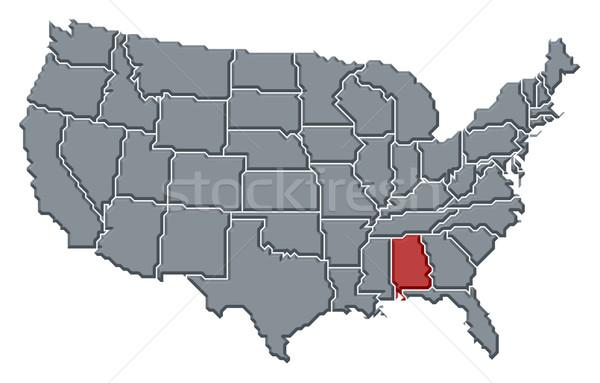 Harita Amerika Birleşik Devletleri Alabama siyasi birkaç soyut Stok fotoğraf © Schwabenblitz