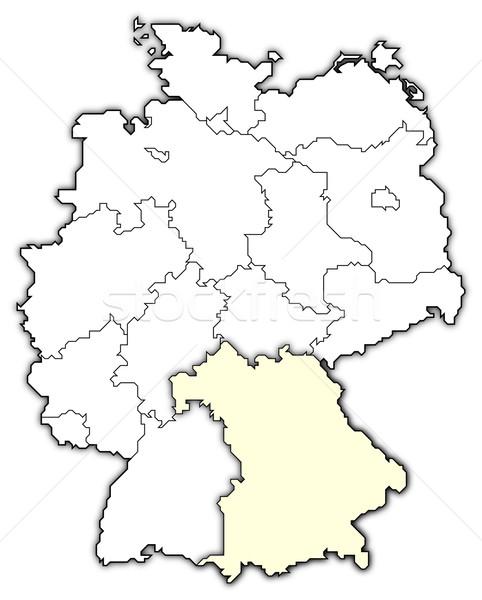 Map of Germany, Bavaria highlighted Stock photo © Schwabenblitz