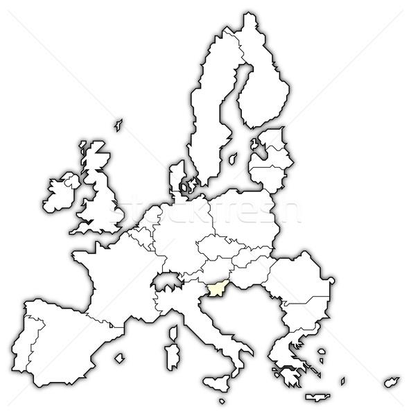 Mapa europeu união Eslovenia político vários Foto stock © Schwabenblitz