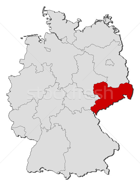 Map of germany saxony highlighted vector illustration steffen add to lightbox download comp gumiabroncs Image collections