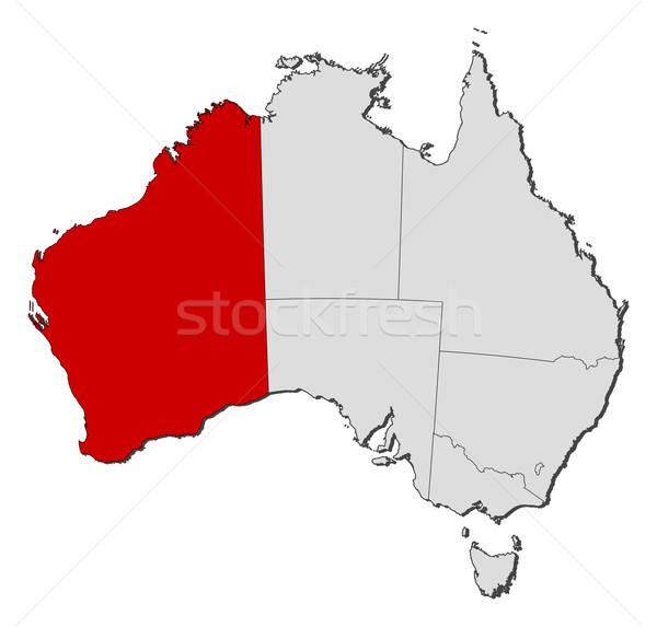 Map of Australia, Western Australia highlighted Stock photo © Schwabenblitz
