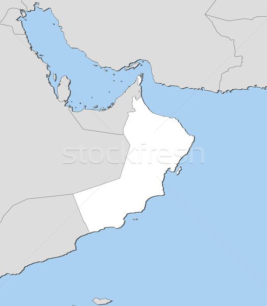 карта Оман политический несколько аннотация Сток-фото © Schwabenblitz