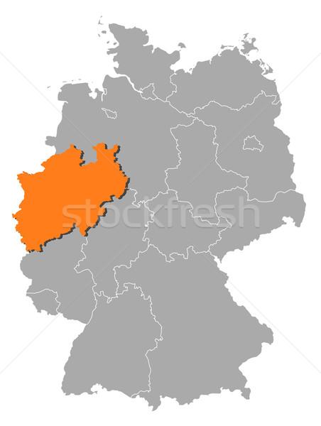 Kaart Duitsland noorden politiek verscheidene abstract Stockfoto © Schwabenblitz