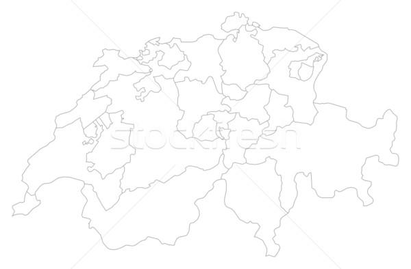 Karte politischen mehrere abstrakten Hintergrund Kommunikation Stock foto © Schwabenblitz